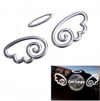 3D Guardian Angel Wings Car Decal Emblem Sticker