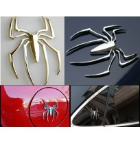 Car Decal 3D Metal Spider Car Sticker Decoration