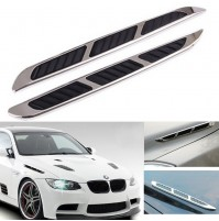 Car Side Decorative Vent Air Flow Grille Sticker #3