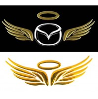 HOT Gold 3D Angel Wings Car Decal Emblem Sticker