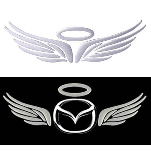 Hot Silver 3d Angel Wings Car Decal Emblem Sticker