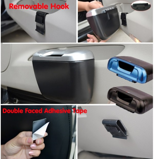 Multifunctional Car Trash Bin Litter Container