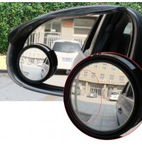 360° Adjustable Round Convex Blind Spot Mirror 2pc Wide Vision