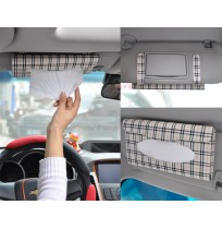 Car Sun Visor Leather Tissue Box Paper Holder