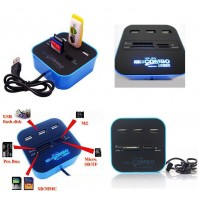 All In One Multi-card Reader with 3 ports USB 2.0