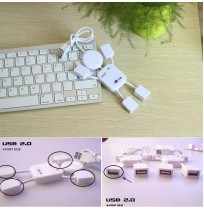 Cute High Speed 4 Port USB 2.0 For PC Laptop