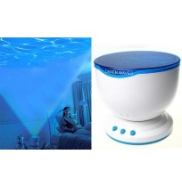 Ocean Waves Night Light Projector Speaker for Living & Baby Room