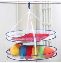 Foldable Dual Layer Laundry Clothes Dryer Hanging