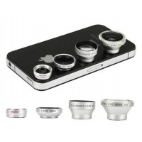 4In1 Wide+Macro+Fisheye ZoomLens Kit for All phone