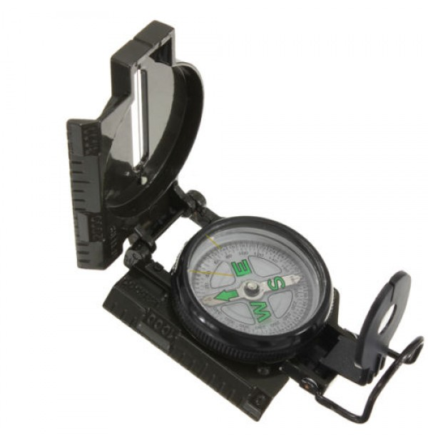 Lensatic Compass Military Camping Hiking Survival