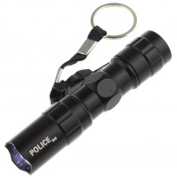 Police LED 3W Flashlight with Clip Clamp Keyring