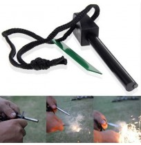 Survival Magnesium Flint Stone Fire Starter Lighter Kit For Camping