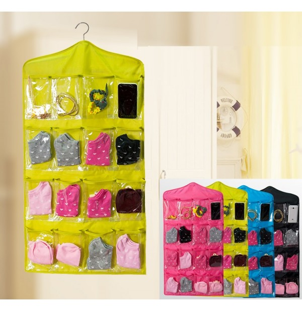 16 Pocket Wall Door Closet Hanging Organizer Pouch