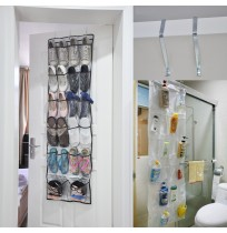 22 Pocket Door Hanging Shoe Organiser Storage Rack