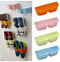 Shoe Organizer Rack Holder Wall Mounted Sticky 1pc
