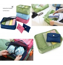 Foldable Mesh Travel Storage Pouch Organiser Inser