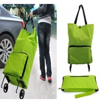 Foldable Travel Shopping Tote Wheel Luggage Bag