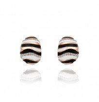Real 18K Gold Plated Zebra Stripes Stud Earrings
