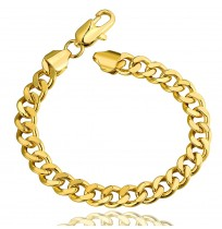 Real 18K Gold Plated Oval Hinged Crystal Bracelet