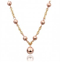 Real 18K Gold Plated Beads Chain Necklace