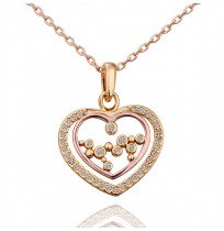 18K Gold Plated CZ Pave Backstage Heart Necklace