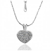 18K Gold Plated CZ Heart Spade Droplet Necklace