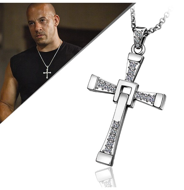 Real 18K Gold Plated The Fast and The Furious Cross Necklace