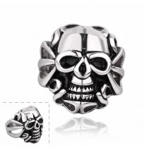 Men's 316L Stainless Steel Antique Style Skull Head Ring