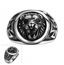 Men's 316L Stainless Steel Retro Africa Lion Ring