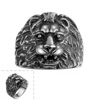 316L Stainless Steel Amazing Animal Lion Head Ring