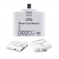 5in1 OTG Micro USB Card Reader for Samsung,Android