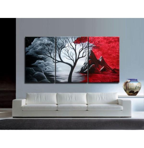 100% Handmade Oil Paintings Canvas-Framed #036