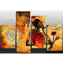 100% Handmade Oil Paintings Canvas-Framed #005