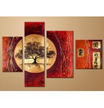 100% Handmade Oil Paintings Canvas-Framed #009