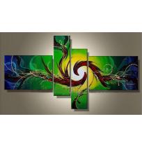 100% Handmade Oil Paintings Canvas-Framed #012