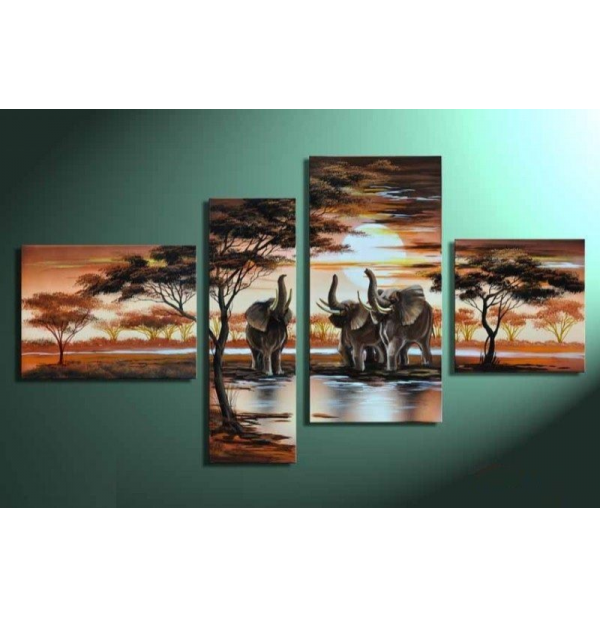 100% Handmade Oil Paintings Canvas-Framed #017