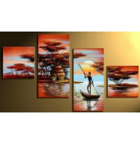 100% Handmade Oil Paintings Canvas-Framed #019