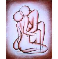 100% Handmade Oil Paintings Canvas-Framed #027