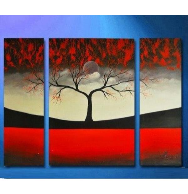 100% Handmade Oil Paintings Canvas-Framed #034