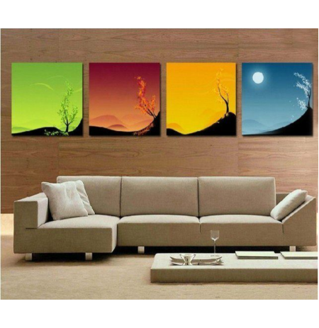 100% Handmade Oil Paintings Canvas-Framed #038