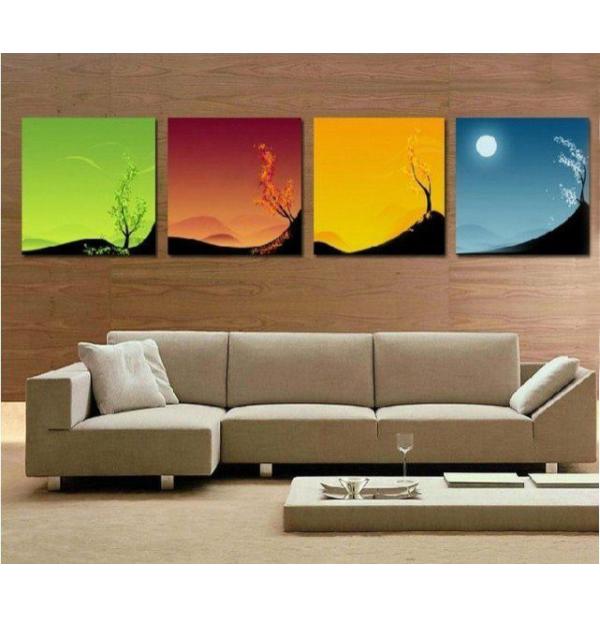 100% Handmade Oil Paintings Canvas-Framed #038