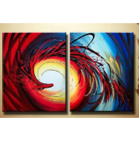 100% Handmade Oil Paintings Canvas-Framed #041