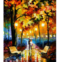 100% Handmade PALETTE KNIFE Oil Paintings Canvas-Framed #047
