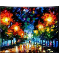 100% Handmade PALETTE KNIFE Oil Paintings Canvas-Framed #049