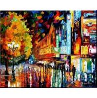 100% Handmade PALETTE KNIFE Oil Paintings Canvas-Framed #051