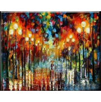 100% Handmade PALETTE KNIFE Oil Paintings Canvas-Framed #052