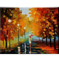 100% Handmade PALETTE KNIFE Oil Paintings Canvas-Framed #053