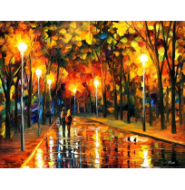 100% Handmade PALETTE KNIFE Oil Paintings Canvas-Framed #054