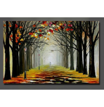 100% Handmade PALETTE KNIFE Oil Paintings Canvas-Framed #056