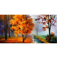 100% Handmade PALETTE KNIFE Oil Paintings Canvas-Framed #058